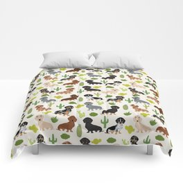 Dachshund cactus southwest dog breed gifts must have doxie dachsies Comforters