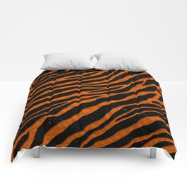 Ripped SpaceTime Stripes - Orange Comforters