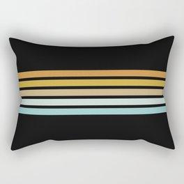 Retro Sunshine Stripes Rectangular Pillow