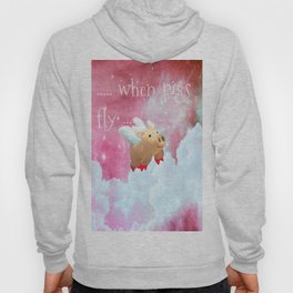 When Pigs Fly - Pink Sky Hoody