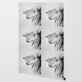 Lion Portrait - Black & White Wallpaper