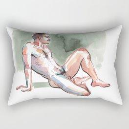 JORDAN, Nude Male by Frank-Joseph Rectangular Pillow