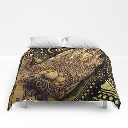 Henna Indian Yoga Buddhism Work Out Comforters