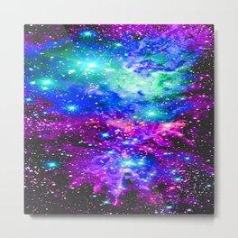 Fox Fur Nebula Galaxy Pink Purple Blue Metal Print