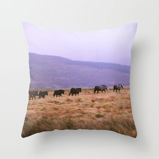 Horse Line Throw Pillow
