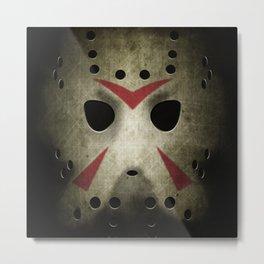 Slasher Hockey Mask Metal Print