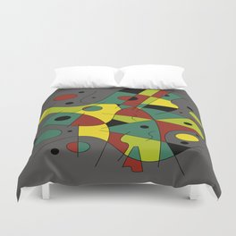 Abstract #226 The Cellist #2 Duvet Cover