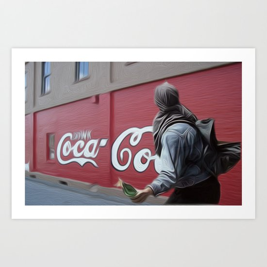 Coca Cola Wars Art Print