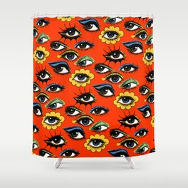 60s Eye Pattern Shower Curtain