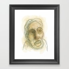 Sketch of a man Framed Art Print