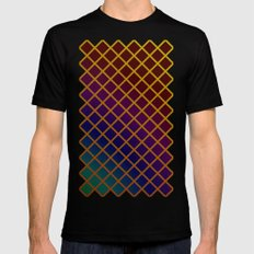 Geometric Abstraction. Black MEDIUM Mens Fitted Tee