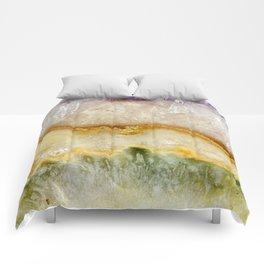 Striated Amethyst in Purple Gold & Green Comforters