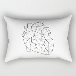 Minimal crystal heart anatomy Rectangular Pillow