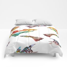 Tropical Colors, Guppy Aquarium Fish , Aquarium Art Underwater Comforters