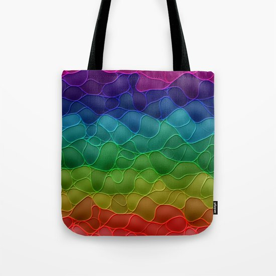 Rainbow abstraction Tote Bag