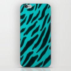 Aqua Zebra Print iPhone & iPod Skin