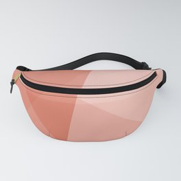 Living Coral Geometric Fanny Pack