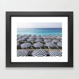 Stripes in the French Riviera Framed Art Print