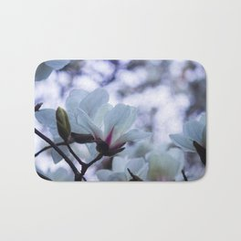 Bokeh Magnolias Bath Mat