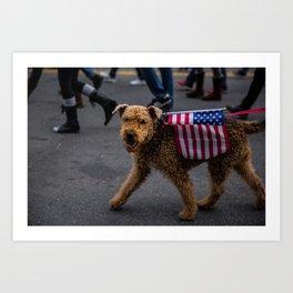 American Dog Art Print