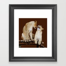 Oh No You Di' ent. Oh Yes I Did! Framed Art Print