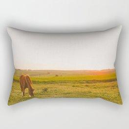 Summer Landscape with Horse Rectangular Pillow
