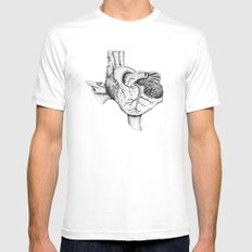 The Heart of Texas Mens Fitted Tee MEDIUM White