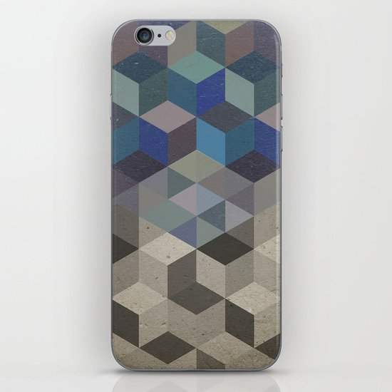 Dimension in blue iPhone & iPod Skin