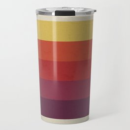 Retro Video Cassette Color Palette Travel Mug