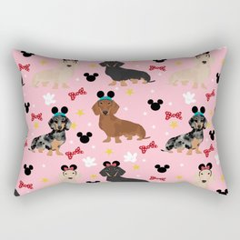 Dachshund theme park lover dog breed wiener dog gifts Rectangular Pillow