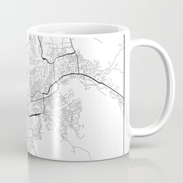 Minimal City Maps - Map Of Santa Rosa, California, United States Coffee Mug