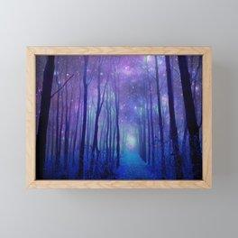 Fantasy Path Purple Blue Framed Mini Art Print