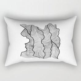Contour Lines Rectangular Pillow