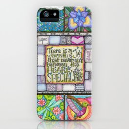 My Patchwork Friendship Squares iPhone Case