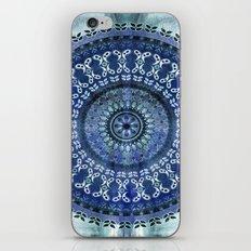 Vintage Blue Wash Mandala iPhone & iPod Skin