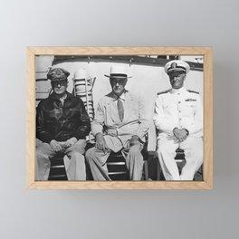 General MacArthur - President Roosevelt - Admiral Nimitz - 1944 Framed Mini Art Print