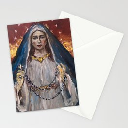 Our Lady of the Rosary Stationery Cards