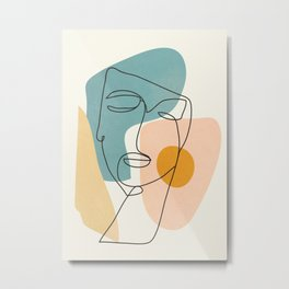 Abstract Face 25 Metal Print