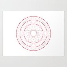 Anime Magic Circle 5 Art Print