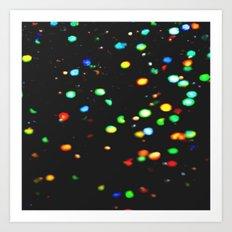 Sparkles: Neon Lights Art Print