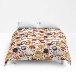Peanut Butter and Jelly Watercolor Comforters