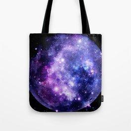 Galaxy Planet Purple Blue Space Tote Bag