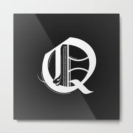 Letter Q Metal Print