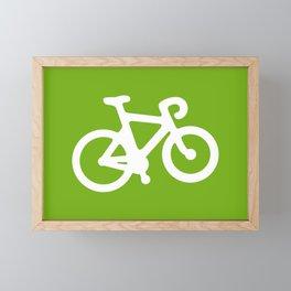 Green Bike Framed Mini Art Print