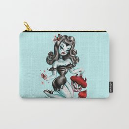 Vampire Vixen with Devilish Cupcakes Carry-All Pouch