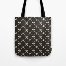 Floral Geometric Pattern Chocolate Brown Tote Bag
