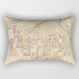 Vintage Map of Omaha Nebraska (1885) Rectangular Pillow