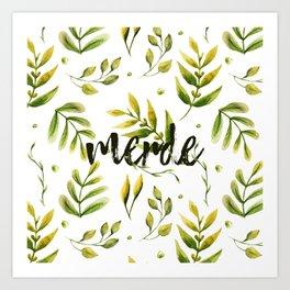 Merde Art Print