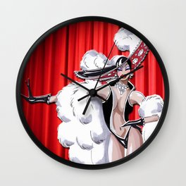 Glamour Showgirl Wall Clock