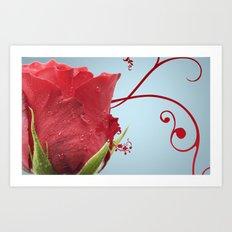Rose, Reinvented Art Print